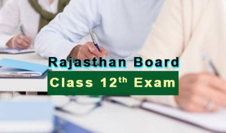 Commerce RBSE 12th Board Time Table 2018