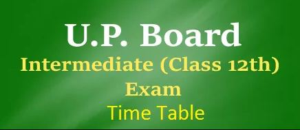UP Board 12th Arts Time Table 2018
