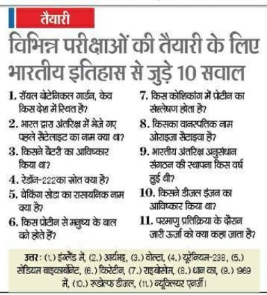 History Rajasthan Police Constable GK Questions 2