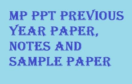 MP PPT Previous year paper