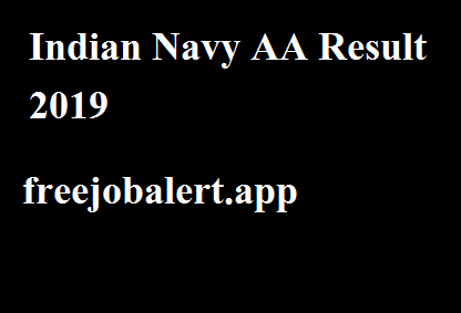 Indian Navy AA Result 2019
