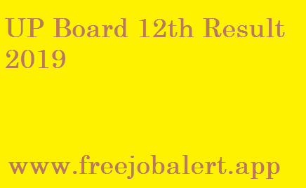 UP Board 12th Result 2019 Name wise