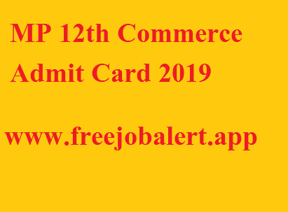 MP 12th Commerce Admit Card 2019