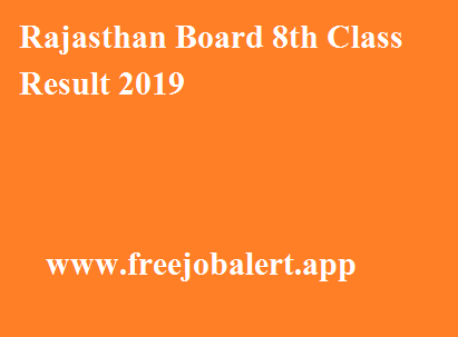 Rajasthan Board 8th Class Result 2019