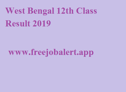 West Bengal 12th Class Result 2019