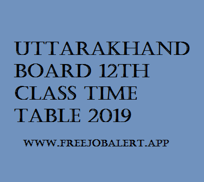 UK Board 12th Time table