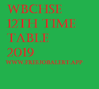 WBCHSE 12th Time table